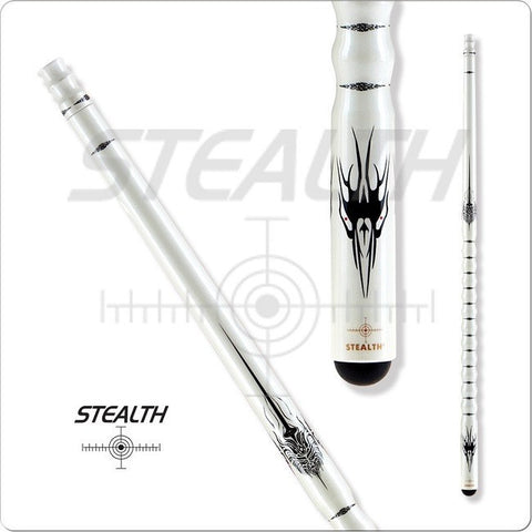 Stealth Pool Cue - Ergonomic Grip, STH11, Black Tribal Overlays - absolute cues