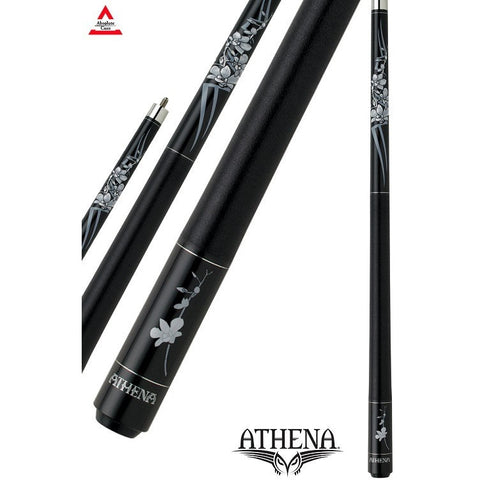 Athena Pool Cues - Ladies Cue - ATH32 - Black,  Tribal and Orchid - absolute cues