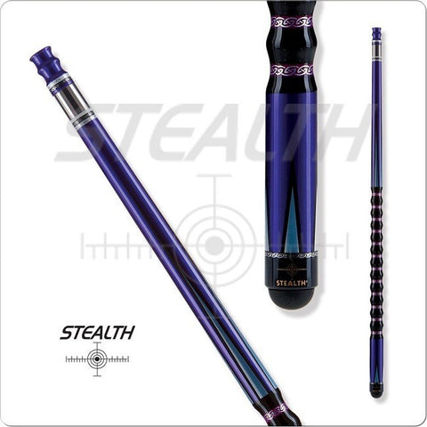 Stealth Pool Cue - Ergonomic Grip, STH14, Black Veneers - absolute cues