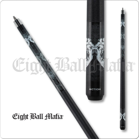 Eight Ball Mafia Cues - Pool Cues - EBM15 - Mirrored X-Ray Skulls - Absolute cues