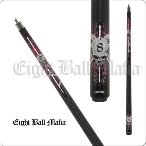 Eight Ball Mafia Cues - Pool Cues - EBM16 - Skulls and Swords - absolute cues