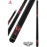 Athena Pool Cues - Ladies Cue - ATH39 - Pink butterfly, Boot inspired - absolute cues