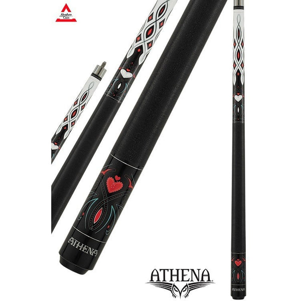 Athena Pool Cues - Ladies Cue - ATH40 - Pink Heart, Boot inspired - absolute cues