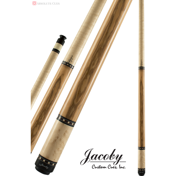 Jacoby Pool Cues - HB1 - Birdseye Maple Olive Wood - Low Deflection
