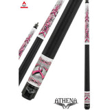 Athena Pool Cues - Ladies Cue - ATH42 - Pink Barbed Hearts - absolute cues
