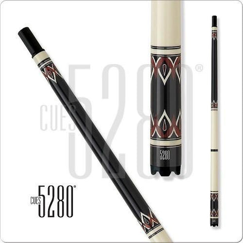 5280 Pool Cues - Pool Cue - MH20 - Rosewood and Ivory - No Wrap - absolute cues