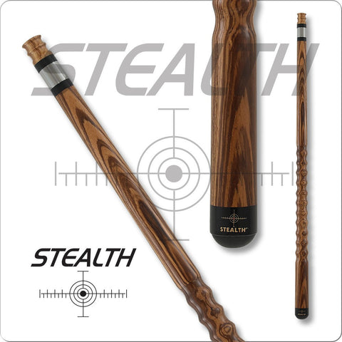 Stealth Pool Cue - Ergonomic Grip, STH21, Zebrawood, Dooley Handle - absolute cues