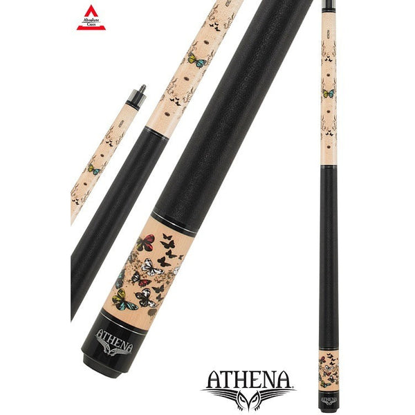Athena Pool Cues - Ladies Cue - ATH45 - Multi-Colored Butterflies - absolute cues