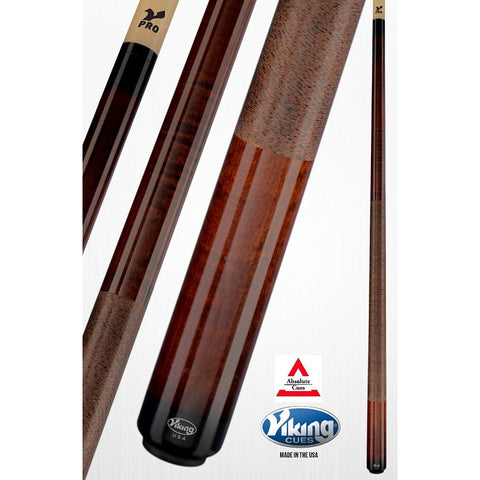 Viking Pool Cues - A241 - Autumn Curly Maple - V Pro Shaft - absolute cues