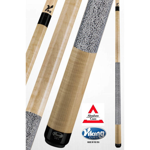 Viking Pool Cues - A244 - Curly Maple - V Pro Shaft - absolute cues