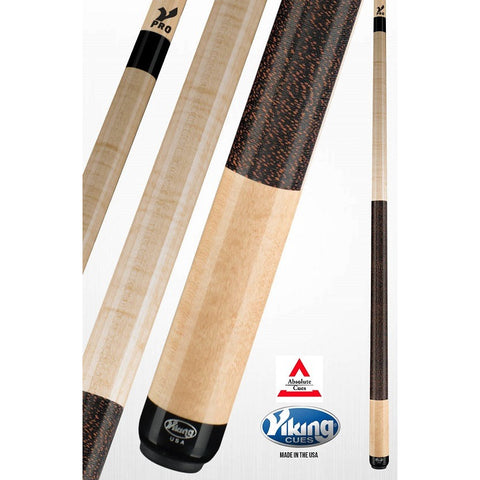 Viking Pool Cues - A247 - Khaki Curly Maple - V Pro Shaft - absolute cues