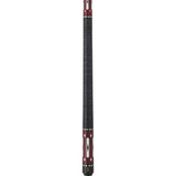 Griffin Pool Cue - GR25 - Burgundy Stain with Black and White Design - absolute cues