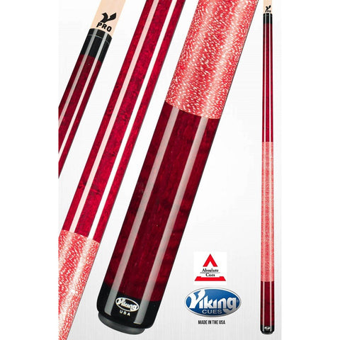 Viking Pool Cues - A251 - Bordeaux Curly Maple - V Pro Shaft - absolute cues