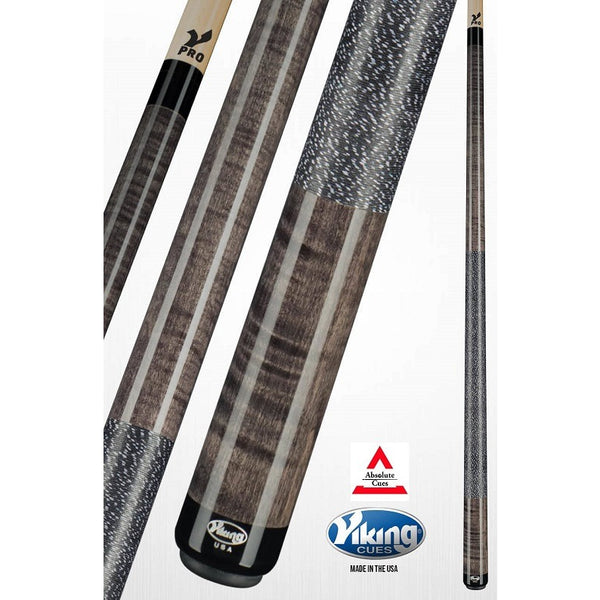 Viking Pool Cues - A253 - Smoke Curly Maple - V Pro Shaft - absolute cues