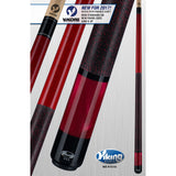 Viking Pool Cue A286 - Crimson Stain - ViKORE Shaft & Wrap - absolute cues