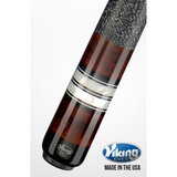 Viking Pool Cue A302 - Coffee, White Pearls - ViKORE Shaft & Wrap - absolute cues
