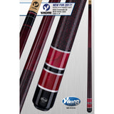 Viking Pool Cue A311 - Bordeaux, Red Pearls - ViKORE Shaft & Wrap - absolute cues