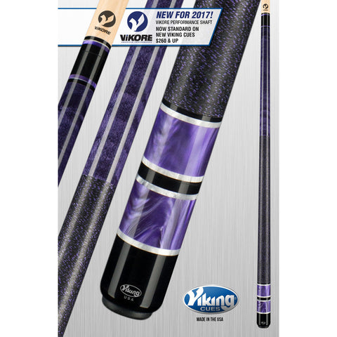 Viking Pool Cue A317 - Concord, Purple Pearls - ViKORE Shaft & Wrap - absolute cues