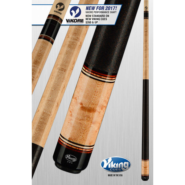 Viking Pool Cue A328 - Central American Cocobolo - ViKORE & Wrap - absolute cues
