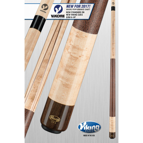 Viking Pool Cue A370 - 4 East Indian Rosewood - ViKORE & Wrap - absolute cues