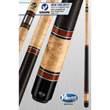 Viking Pool Cue A380 - Khaki Stain, Cocobolo - ViKORE & Wrap - absolute cues
