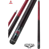 Athena Pool Cues - Woman Cue - ATH09 - Red Stain, One Red Rose - absolute cues