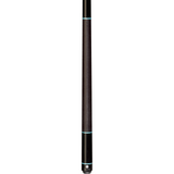 Lucasi Pool Cue - Custom Series - LZD5 - Black, Turquoise Recon Rings - absolute cues