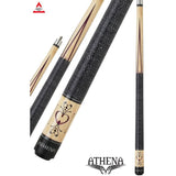 Athena Pool Cues - Woman Cue - ATH13 - Natural, Heart Pin Stripe - absolute cues