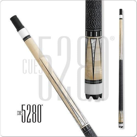 5280 Pool Cues - Pool Cue - ELE06 - Natural Stain - Maple Veneers - absolute cues