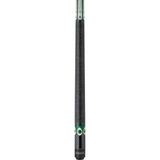 Athena Pool Cues - Woman Cue - ATH08 - Green Stain, Shamrocks - absolute cues