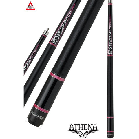 Athena Pool Cues - Woman Cue - ATH29 - Pink Rings, Zebra Print - absolute cues