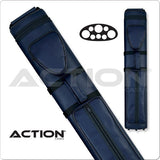 Action Pool Cue Case - 3x5 - AC35 - Blue - Hard Cue Case - absolute cues