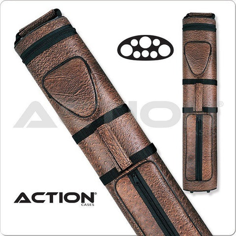 Action Pool Cue Case - 3x5 - AC35 - Brown - Hard Cue Case - absolute cues