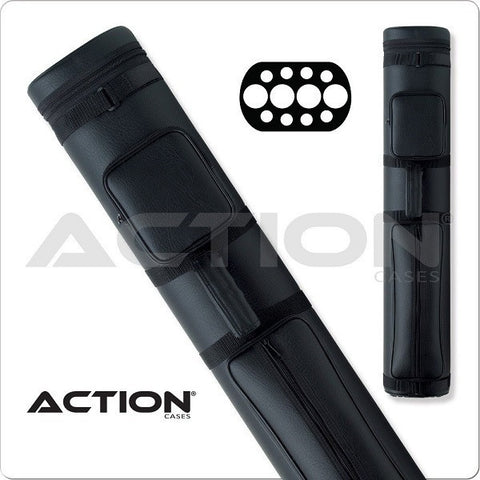 Action Pool Cue Case - 4x8 - AC48 - Black - Hard Cue Case - absolute cues