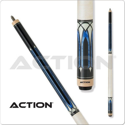 Action Pool Cues - Exotic Series - ACT136 - White Wrap - absolute cues