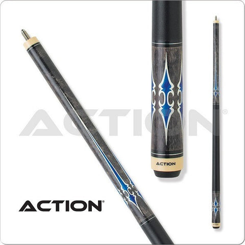 Action Pool Cues - Exotic Series - ACT137 - Black Wrap - absolute cues