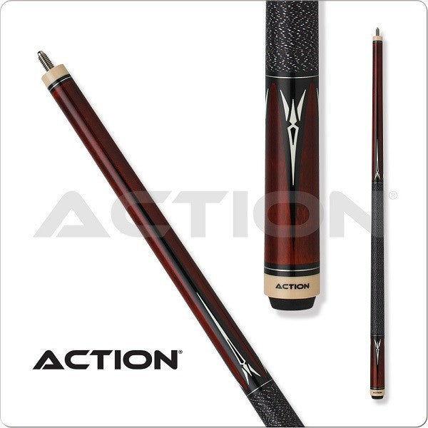 Action Pool Cues - Exotic Series - ACT139 - Black Wrap - absolute cues