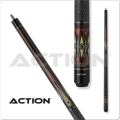Action Pool Cues - Exotic Series - ACT49 - White Green Diamonds - absolute cues