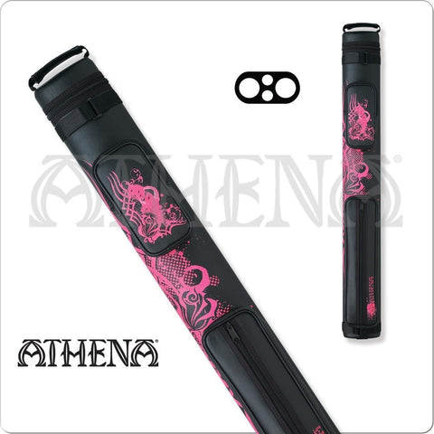 Athena Cue Case - Cue Case - ATHC01 - Black, Pink Tribal Rose - absolute cues