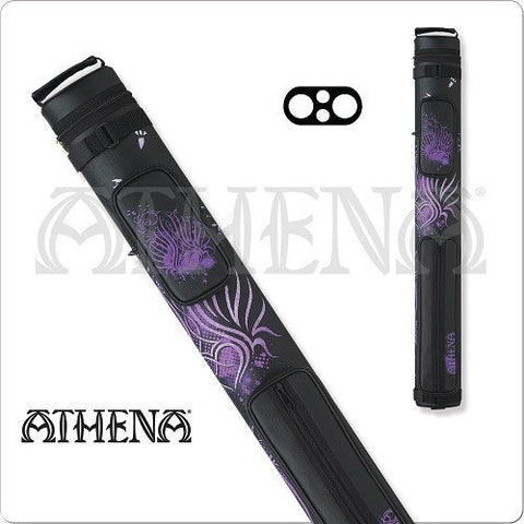 Athena Cue Case - Cue Case - ATHC02 - 2x2 Tribal Purple Hard - absolute cues