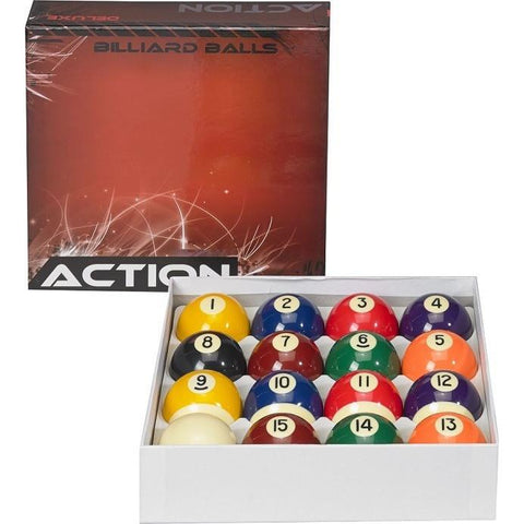 Action Billiard Balls - BBDLX - Deluxe Pool Ball Set
