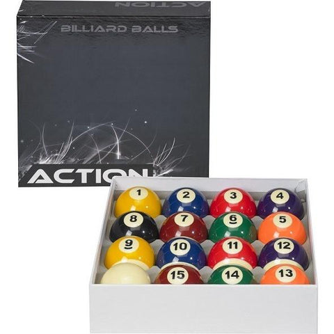 Action Billiard Balls - BBSTD - Standard Pool Ball Set - absolute cues