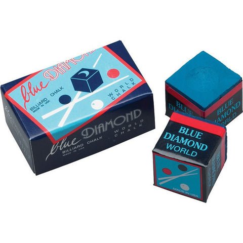 Blue Diamond World Chalk - Billiards Chalk - 2 Piece Box - absolute cues