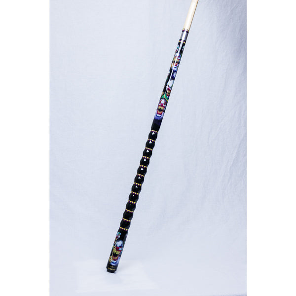 Stealth Pool Cue - Ergonomic Grip, Clown Design, medium Le Pro, 19oz - absolute cues