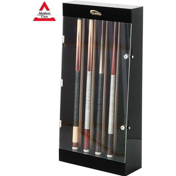 Cuestix 10 Pool Cue Wall Display Case - Plexiglas and lock - absolute cues