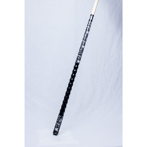 Stealth Pool Cue - Ergonomic Grip, DEF-101, SKULL Design, 19oz - absolute cues