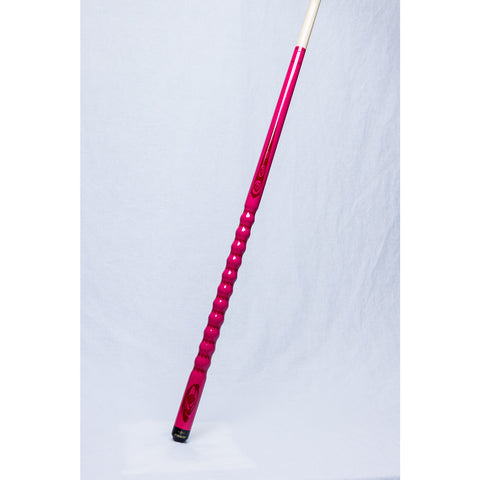 Stealth Pool Cue - Ergonomic Grip, DEF-103, HOT Pink Roses, 19oz - absolute cues