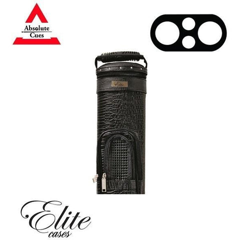Elite Pool Cue Case - 2x2 - Black Precision Hard Cue Case - absolute cues