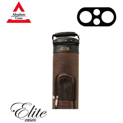 Elite Pool Cue Case - 2x2 - BROWN Precision Hard Cue Case