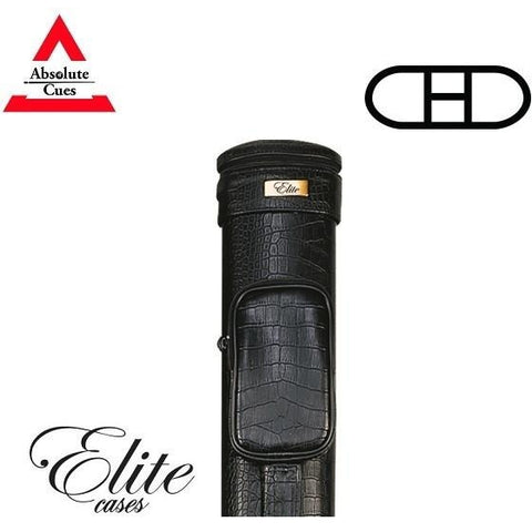 Elite Pool Cue Case - 2x2 - Textured Black Hard Cue Case - absolute cues